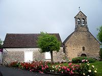 Salle communale et église